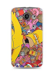 Capa Motorola Moto X2 Homer Simpson Bêbado
