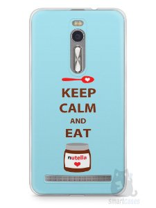 Capa Zenfone 2 Keep Calm and Eat Nutella