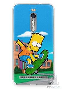 Capa Zenfone 2 Bart Simpson Skate