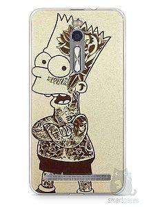 Capa Zenfone 2 Bart Simpson Tatuado
