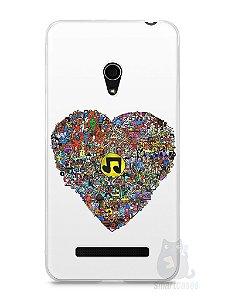 Capa Zenfone 5 Coração Personagens