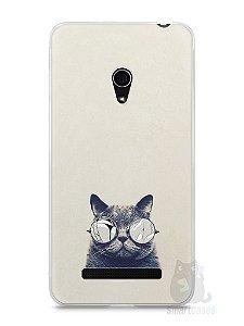 Capa Zenfone 5 Gato Com Óculos