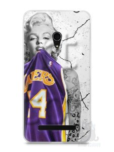 Capa Zenfone 5 Marilyn Monroe Lakers