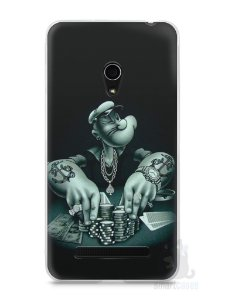 Capa Zenfone 5 Popeye Jogando Poker