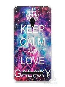 Capa Zenfone 5 Keep Calm and Love Galaxy