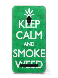 Capa Zenfone 5 Keep Calm and Smoke Weed