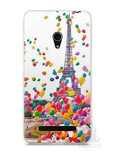 Capa Zenfone 5 Torre Eiffel e Balões