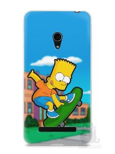 Capa Zenfone 5 Bart Simpson Skate