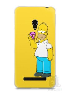 Capa Zenfone 5 Homer Simpson Comendo Donut