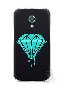 Capa Moto G2 Diamante Azul