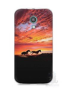Capa Moto G2 Cavalos #1