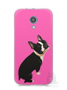 Capa Moto G2 Cachorro Boston Terrier