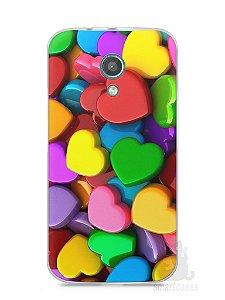 Capa Moto G2 Corações