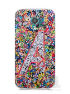 Capa Moto G2 The Avengers Comic Books