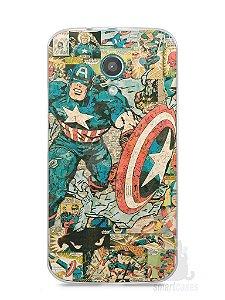 Capa Moto G2 Capitão América Comic Books #1