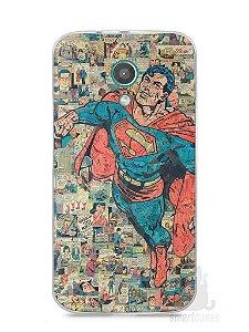 Capa Moto G2 Super Homem Comic Books
