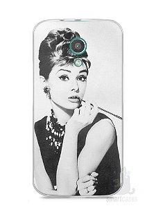 Capa Moto G2 Audrey Hepburn #1