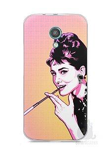 Capa Moto G2 Audrey Hepburn #2