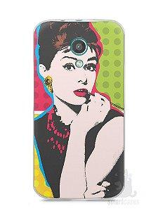 Capa Moto G2 Audrey Hepburn #3