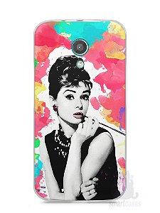 Capa Moto G2 Audrey Hepburn #5