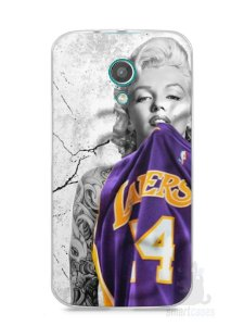 Capa Moto G2 Marilyn Monroe Lakers