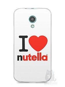 Capa Moto G2 I Love Nutella