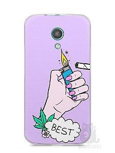 Capa Moto G2 Melhores Amigos Fumando