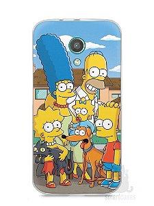 Capa Moto G2 Família Simpsons #1