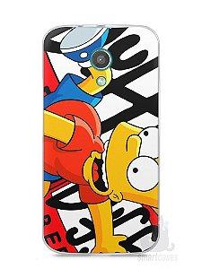 Capa Moto G2 Bart Simpson Duff