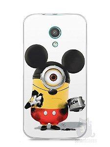 Capa Moto G2 Minions Mickey Mouse