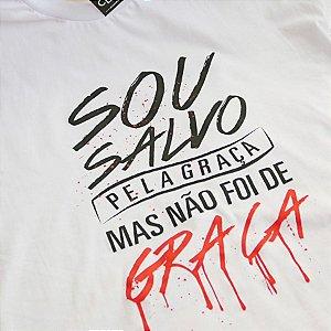 CAMISETA - SALVO PELA GRAÇA (BRANCA)