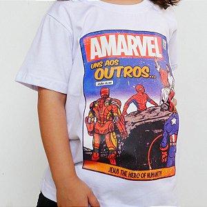 Camiseta Infantil - Amarvel Branca