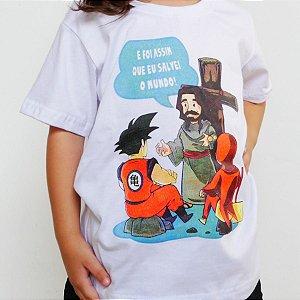 Camiseta Infantil - Jesus Salvador Branca