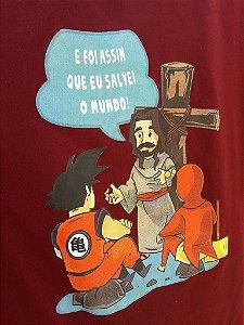 Camiseta Jesus Salvador Bordô