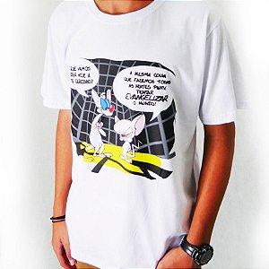 Camiseta Pinky e Cérebro Branca