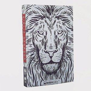 Bíblia Jesus Copy Leão Branco