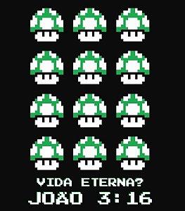 Camiseta - Vida Eterna 8 Bits