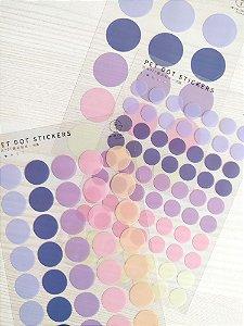 Cartela de Adesivos Dots Lilás