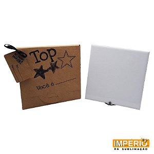 Kit Azulejo 20x20 Suporte Caixa Kraft Top