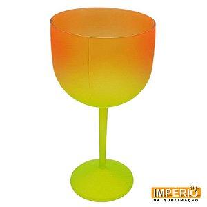 Taça Gin Degradê Neon (Verde Laranja)