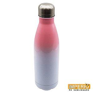 Garrafa Térmica Branca e Rosa 500 ml
