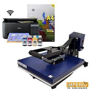 Kit Prensa Plana Semi Automática 40x50 Mundi + Impressora Epson L3150