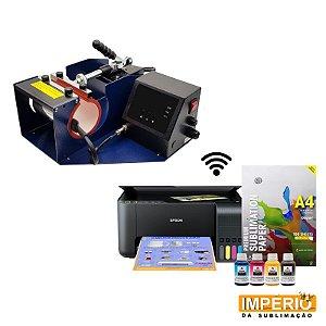 Kit Prensa de caneca mundi premium + impressora Epson L 3150
