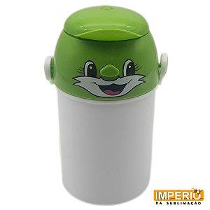 Garrafa Polímero Infantil  Verde 400 ml