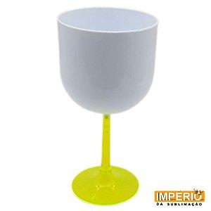 Taça Gin Branca Base Verde Neon P/ Sublimação