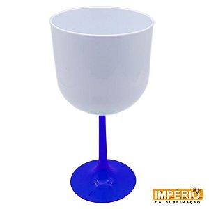 Taça Gin Branca Base Azul  Neon P/ Sublimação