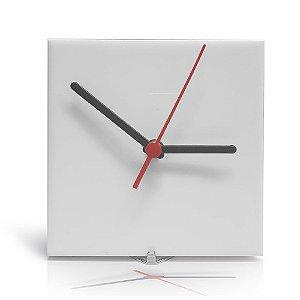 Azulejo Relógio Branco Resinado 15x15 P/ Sublimação Brilhante