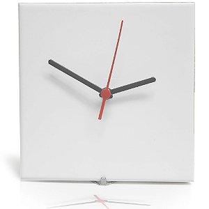 Azulejo Relógio Branco Resinado 20x20 P/ Sublimação Brilhante