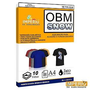 Papel OBM SNOW PCT C/10uni (P/ Sublimação)