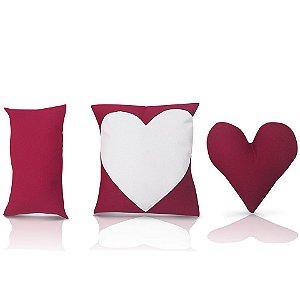 Almofada de Coração - Kit Almofadas